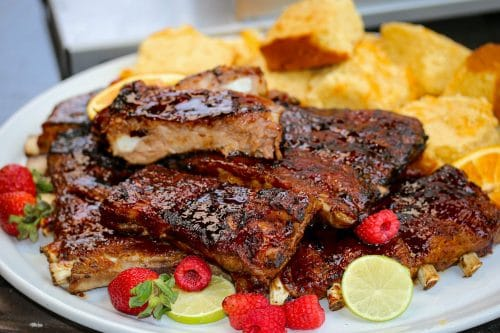 Beefer Sticky Berry-Cherry Saint Louis-Style Ribs