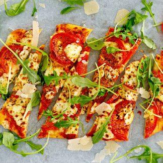 Classic Tomato Arugula Pizza