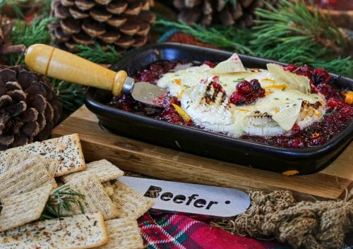 Beefer: Warm Holiday Cranberry Brie