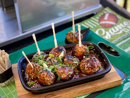 Thai Game Day Turkey Meatballs