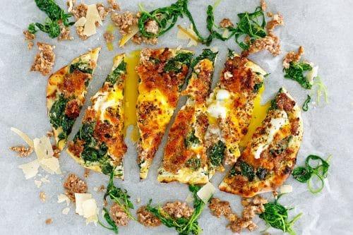 Sausage & Egg Breakfast or Brunch Pizza