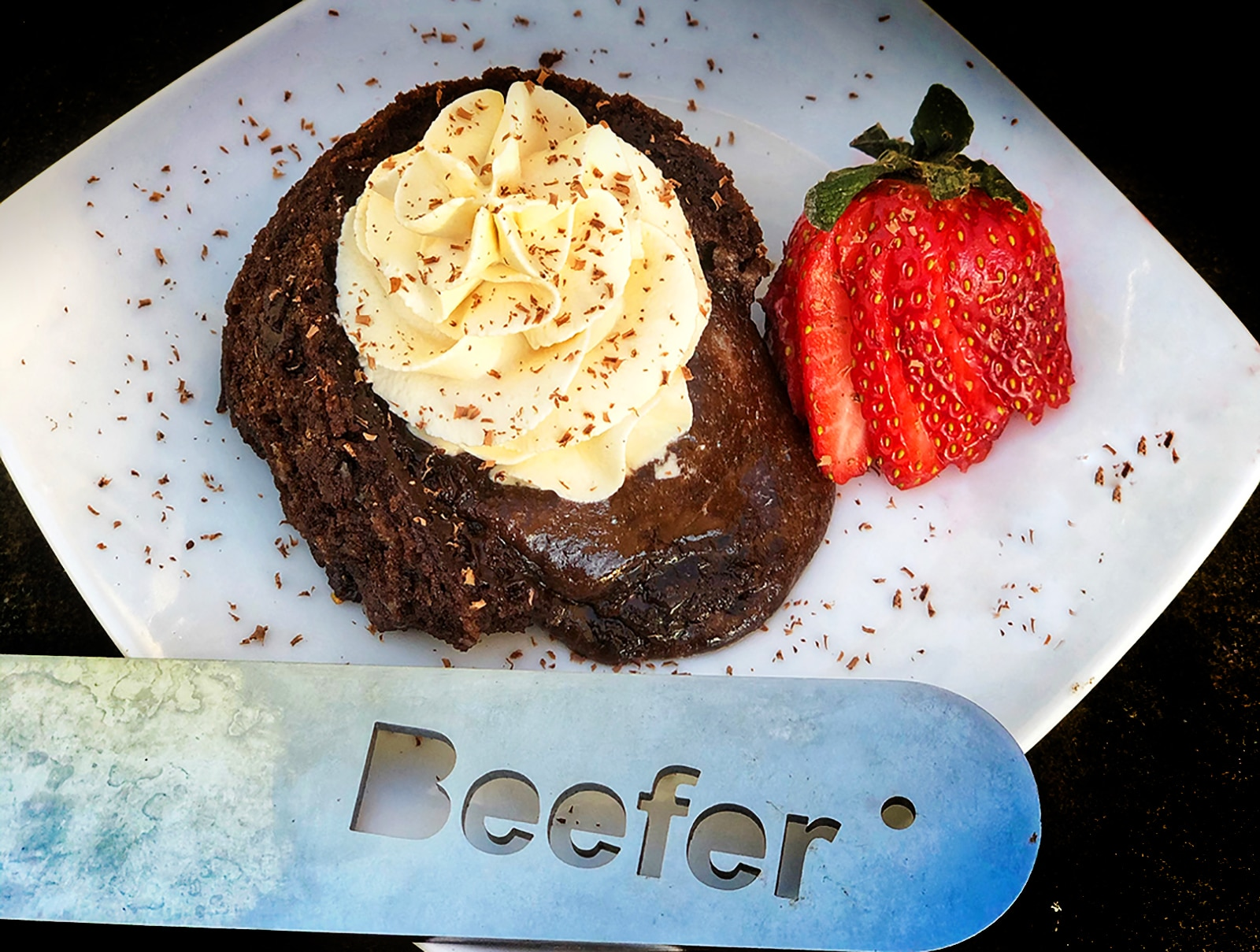 Chocolate Lava Cakes - made with a Beefer