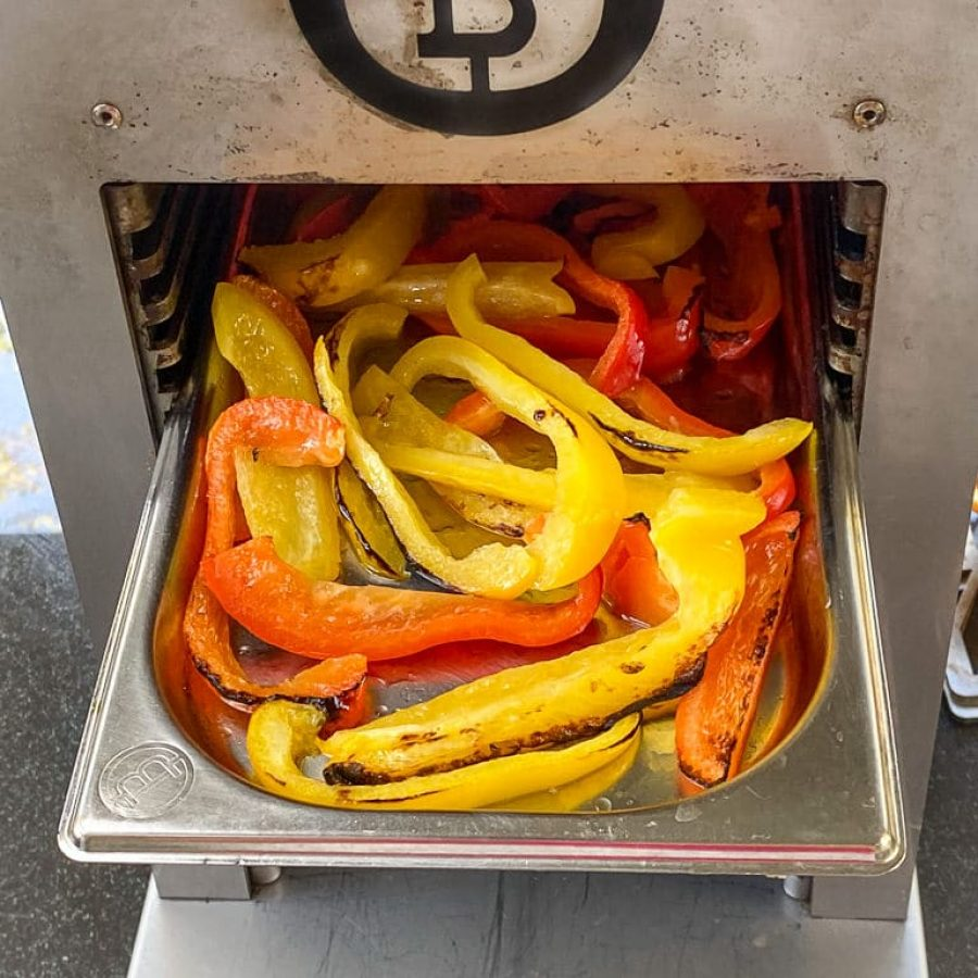 STEP 3c Cook Peppers 4th rack