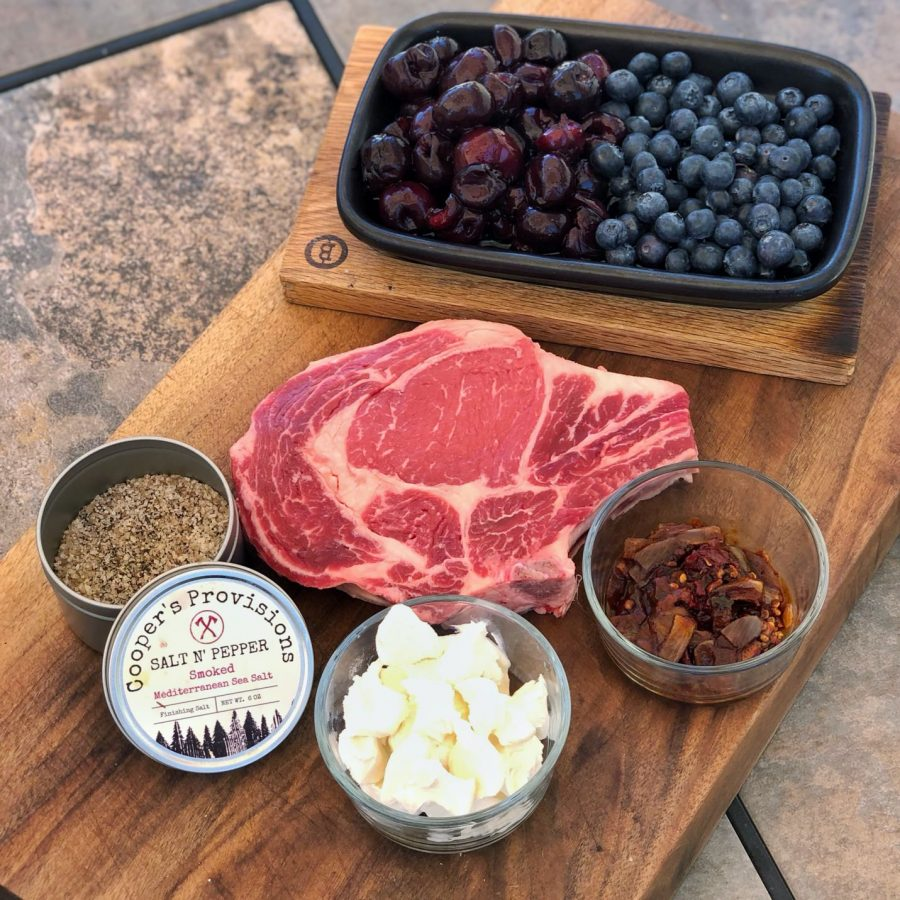 Red, White and Blue Ribeye Sandwiches from the Beefer