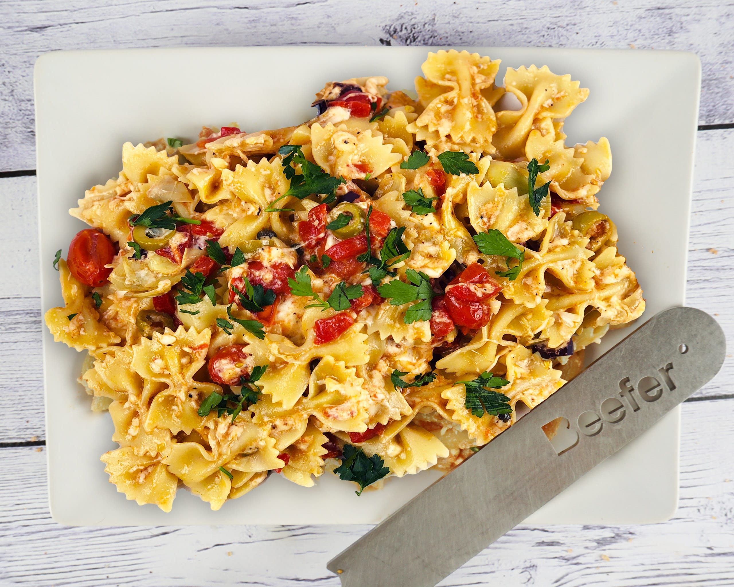 Greek Feta Pasta - made with a Beefer