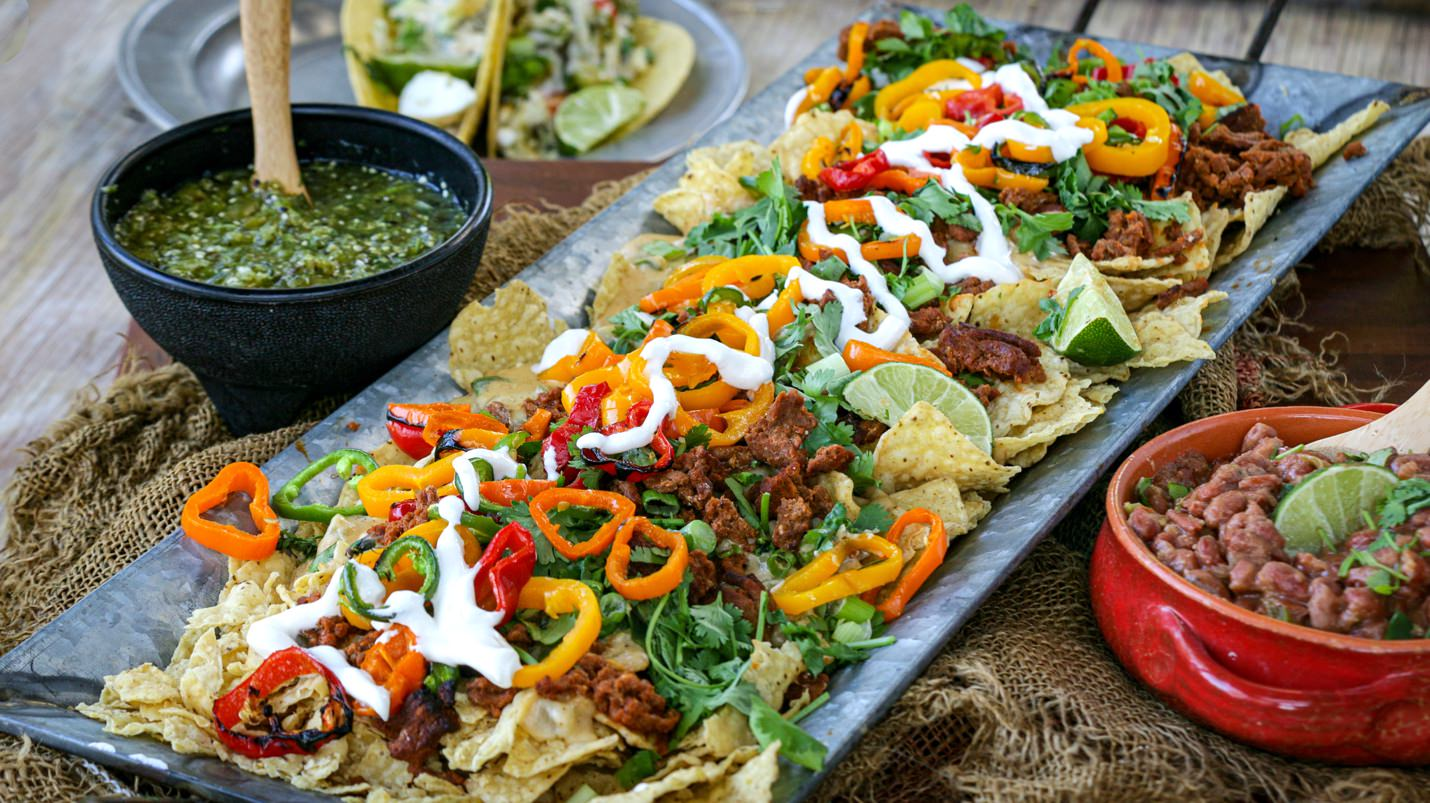 For the Win: Beefer Game Day Nachos with Jal-apeño Cheese Sauce