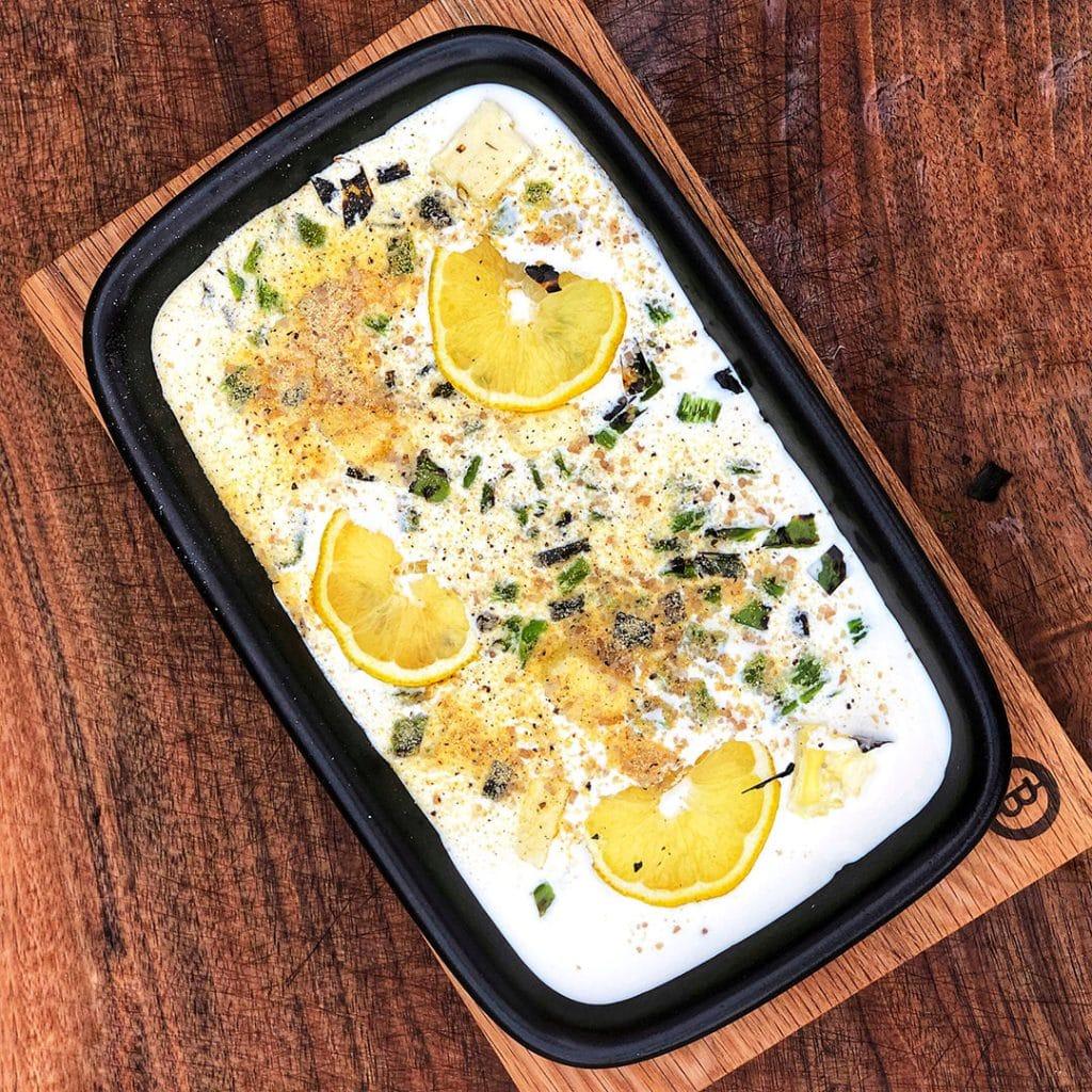 Seared Jumbo Scallops in Lemon and Hatch Chile Cream Sauce